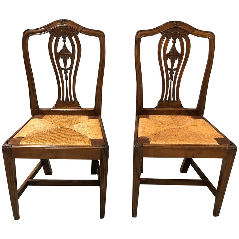Pair of Continental 19th Century Chinoiserie Side Chairs For Sale