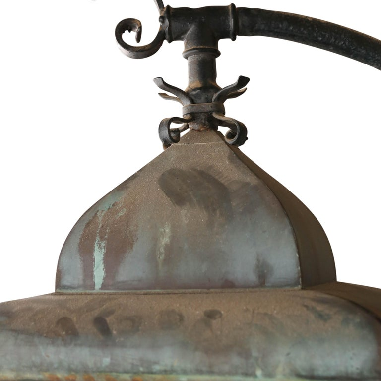 Pair of Continental 19th Century Street Lanterns For Sale 1