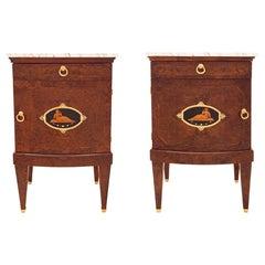 Pair of Continental Biedermeier Style One Drawer One Door Side Tables