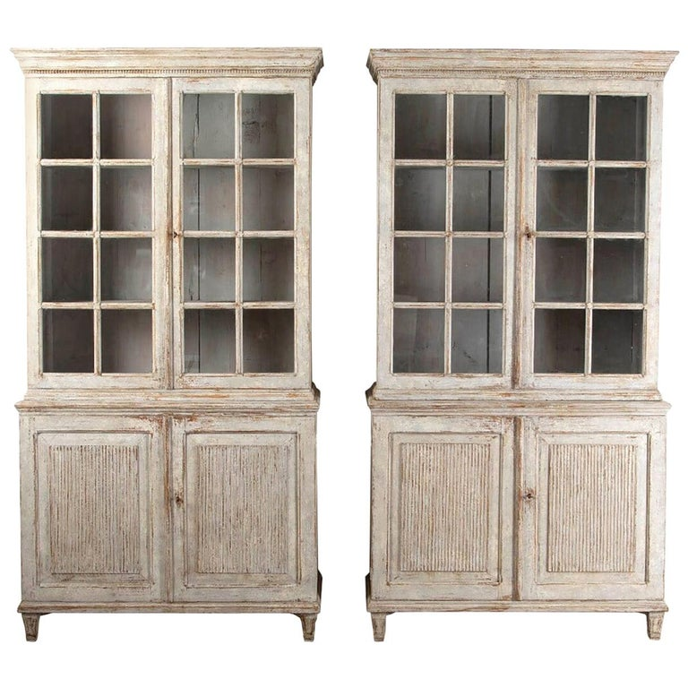 Pair of Continental Bookcases For Sale