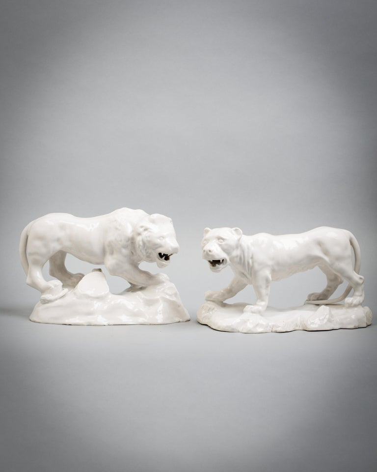 18th Century Pair of Continental Lion and Lioness, Italian, circa 1770 For Sale