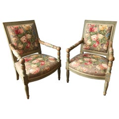 Pair of Continental Open Arm Chairs