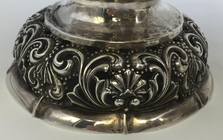 German Pair of Continental Silver Centerpieces/ Bowls by W. Binder For Sale