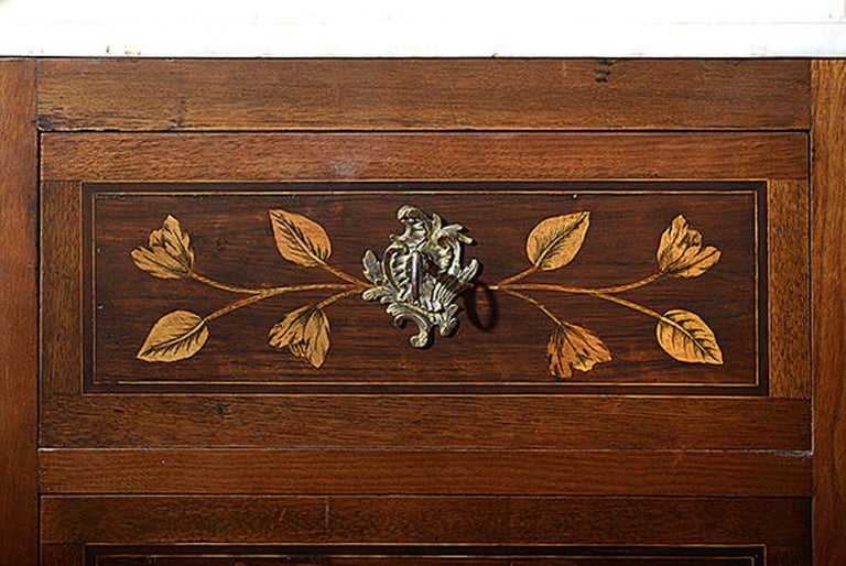 Pair of Continental Walnut, Rosewood and Satinwood Marquetry Chests For Sale 1