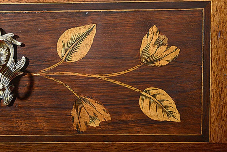 Pair of Continental Walnut, Rosewood and Satinwood Marquetry Chests For Sale 4