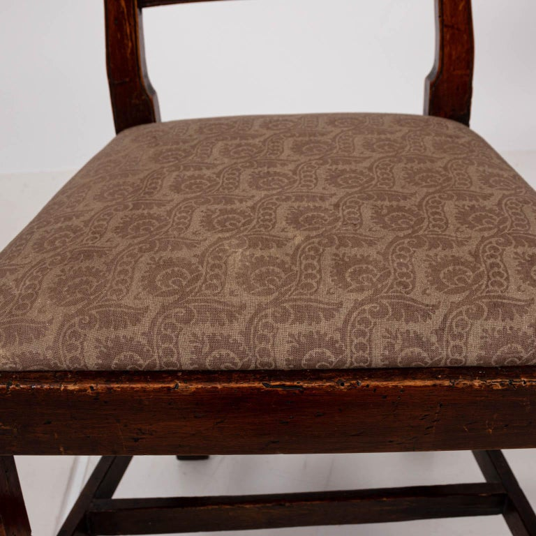 Pair of Continental Walnut Side Chairs For Sale 6