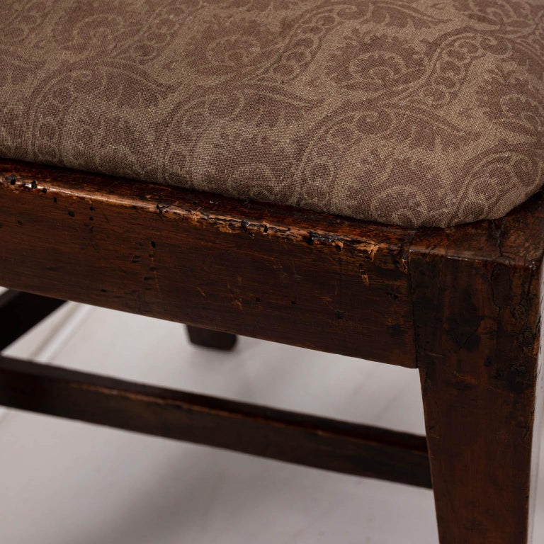Pair of Continental Walnut Side Chairs For Sale 8