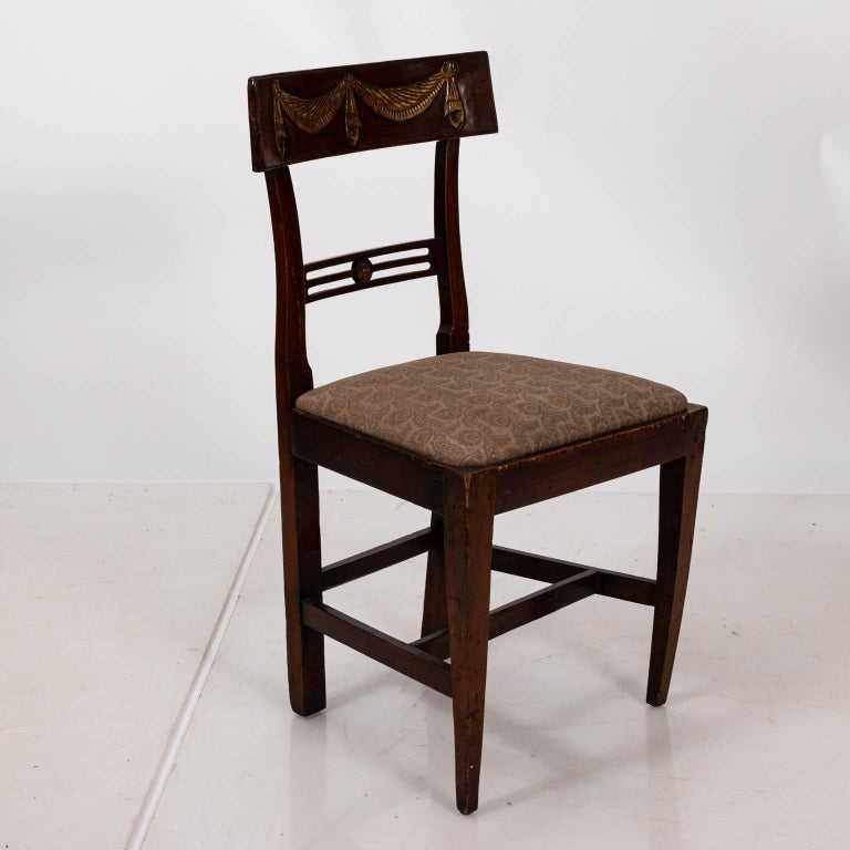 Pair of Continental Walnut Side Chairs For Sale 1