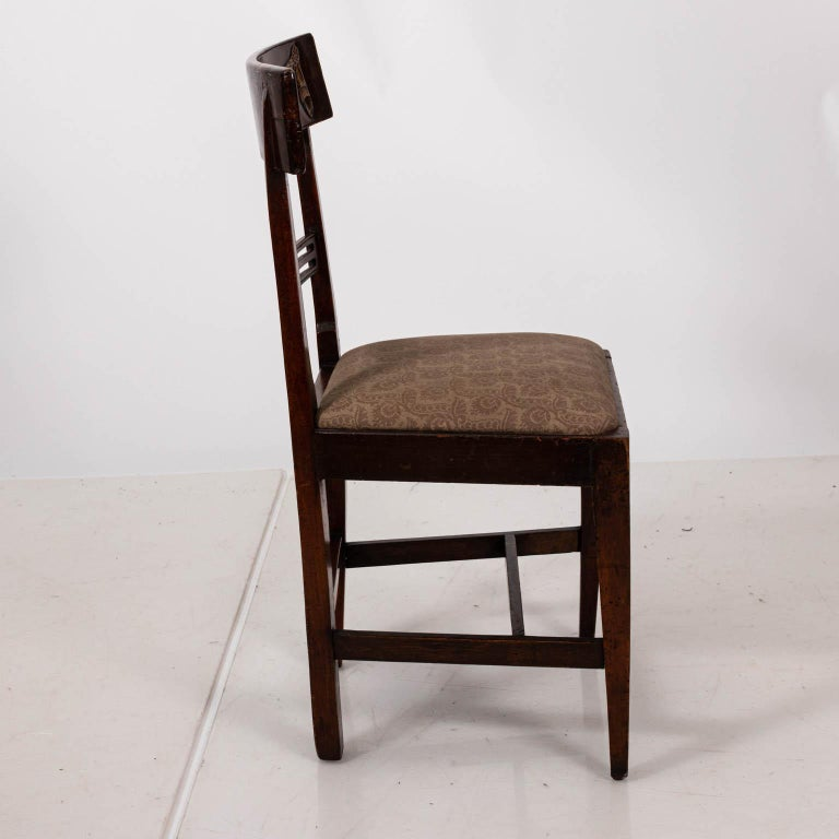 Pair of Continental Walnut Side Chairs For Sale 2