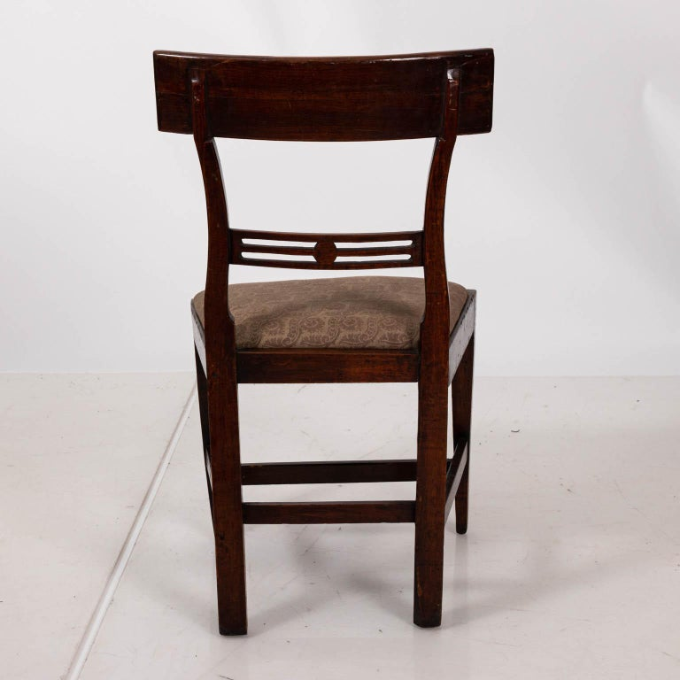 Pair of Continental Walnut Side Chairs For Sale 3