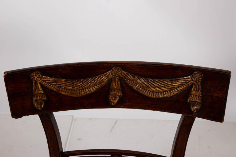 Pair of Continental Walnut Side Chairs For Sale 4