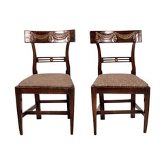 Pair of Continental Walnut Side Chairs
