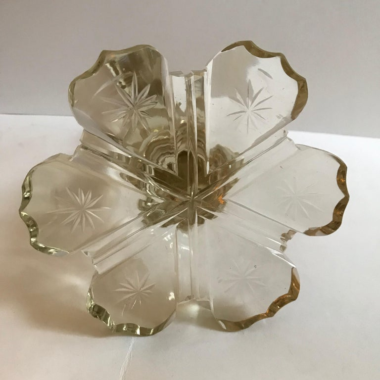 Pair of Converted 19th Century Antique Crystal Table Lamps For Sale 6