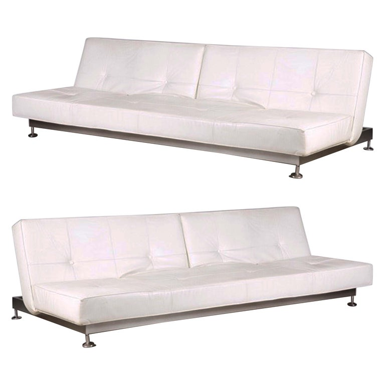 Admirable Genuine White Leather Convertible Sofas By Edra Pair Pdpeps Interior Chair Design Pdpepsorg