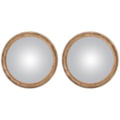 Pair of Convex Mirrors, Italy 1870