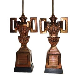 Pair of  Copper Glazed Porcelain Table Lamps