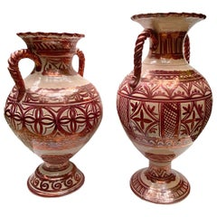 Pair of Copper Glazed Porcelain Vases, Sold Individually