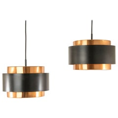 Pair of Copper 'Saturn' Pendants by Jo Hammerborg for Fog & Mørup, 1960s