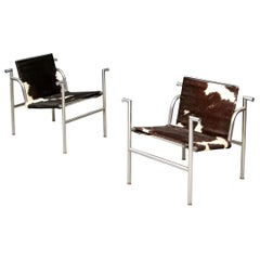 Pair of Corbusier LC1 Chairs for Restoration