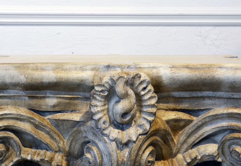 20th Century Pair of Corinthian Plaster Capitals after The Antique, Table Bases or Sculptures