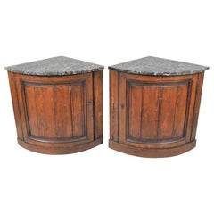 Pair of Corner Cabinets, French Country, 18th Century