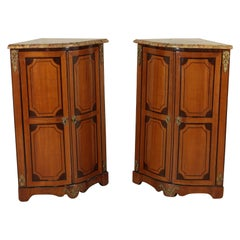 Pair of Corner Cabinets Rosewood Manufactured in France, 18th Century