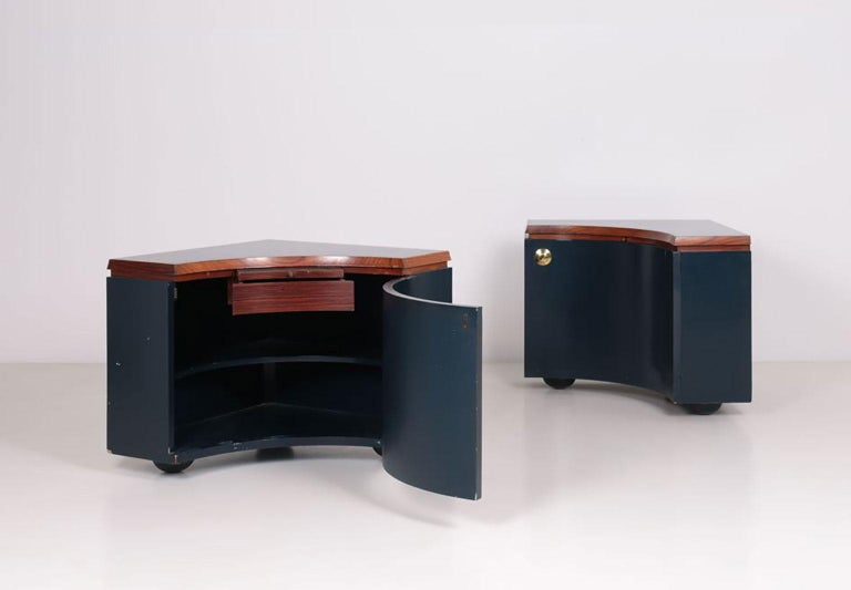 Mid-Century Modern Pair of Corner Units by Luigi Caccia Dominioni For Sale