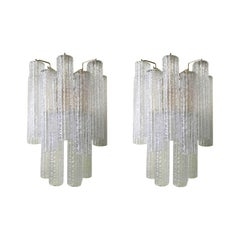 Pair of Corteccia Sconces by Venini