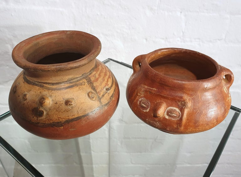 Pair of Costa Rican Terracotta Ovoid Bowls For Sale 8