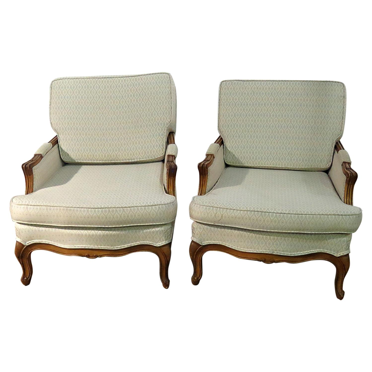 Pair of Country French Bergeres