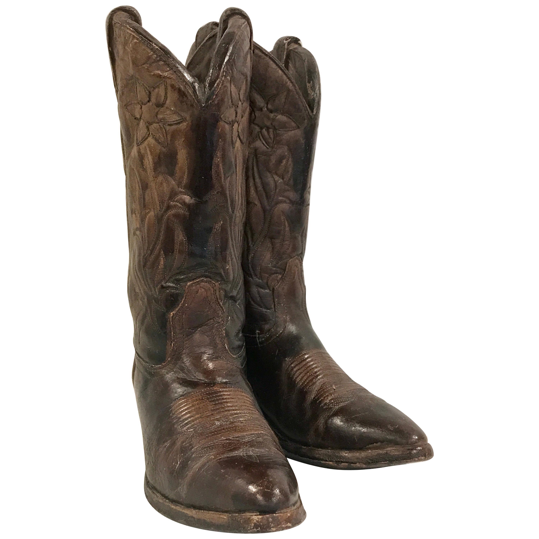 7c09749962e Pair of Cowboy Boots Sculpture / Trade Sign