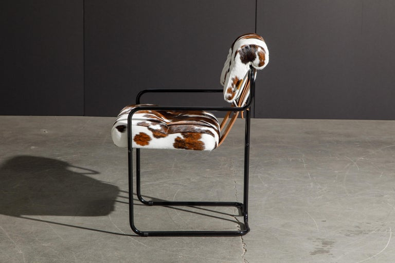 Pair of Cowhide Leather Tucroma Armchairs by Guido Faleschini for Mariani, New For Sale 2