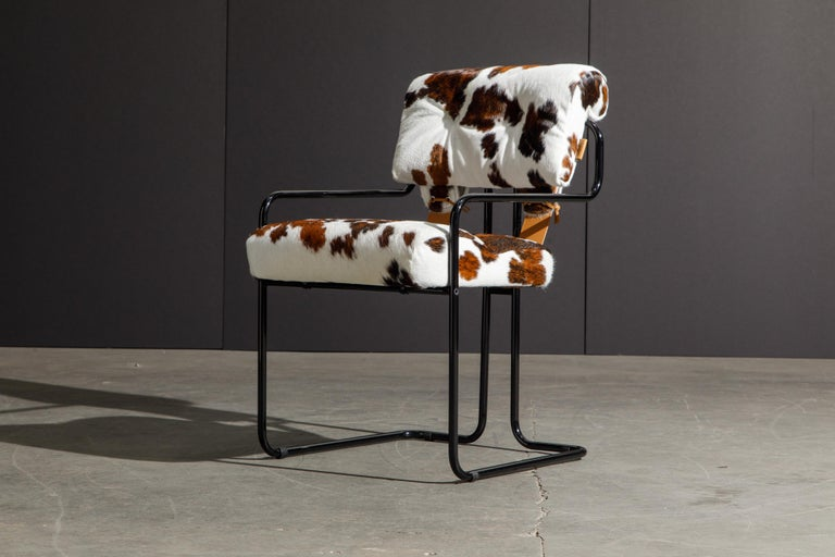 Pair of Cowhide Leather Tucroma Armchairs by Guido Faleschini for Mariani, New For Sale 3