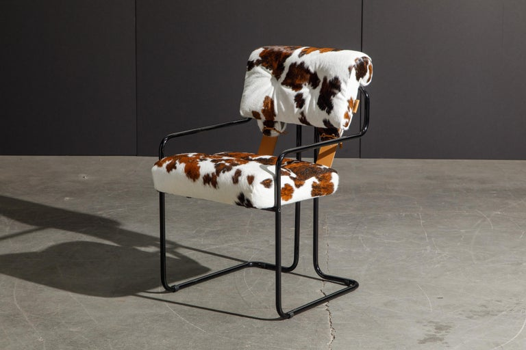 Pair of Cowhide Leather Tucroma Armchairs by Guido Faleschini for Mariani, New For Sale 4