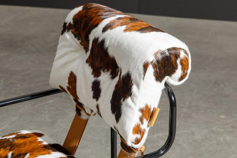 Pair of Cowhide Leather Tucroma Armchairs by Guido Faleschini for Mariani, New For Sale 6