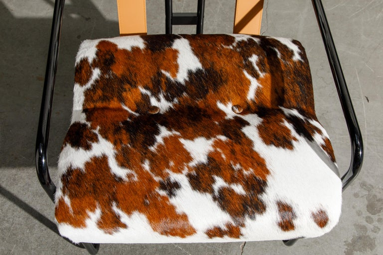 Pair of Cowhide Leather Tucroma Armchairs by Guido Faleschini for Mariani, New For Sale 8