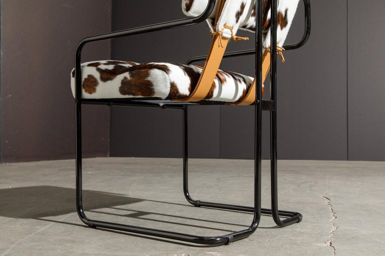 Pair of Cowhide Leather Tucroma Armchairs by Guido Faleschini for Mariani, New For Sale 10