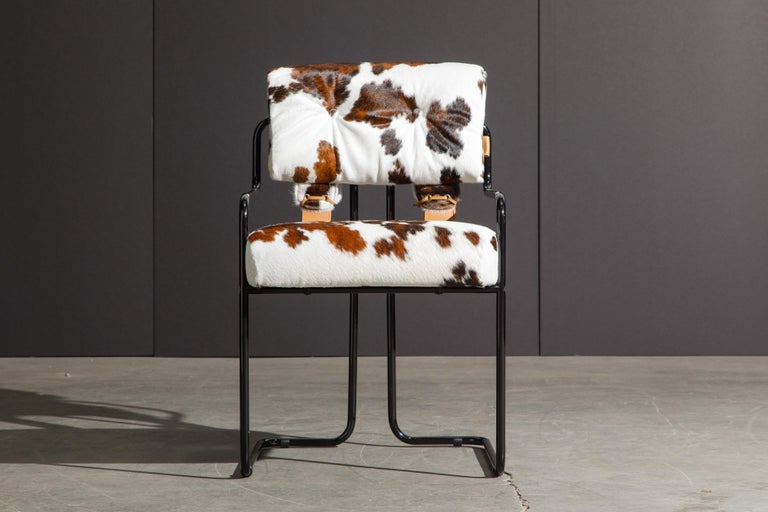 Modern Pair of Cowhide Leather Tucroma Armchairs by Guido Faleschini for Mariani, New For Sale