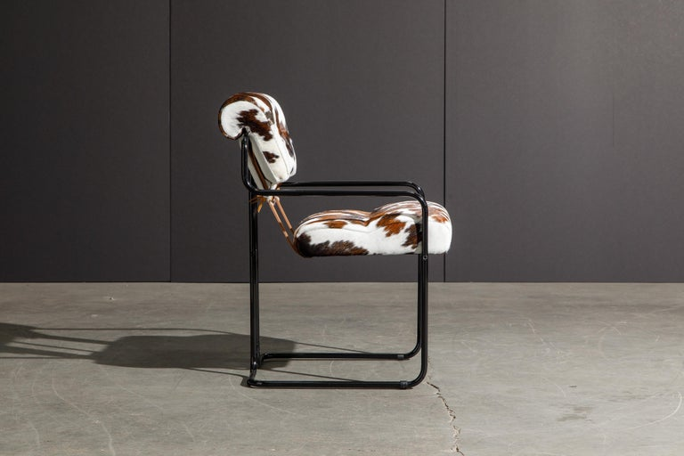 Pair of Cowhide Leather Tucroma Armchairs by Guido Faleschini for Mariani, New In New Condition For Sale In Los Angeles, CA