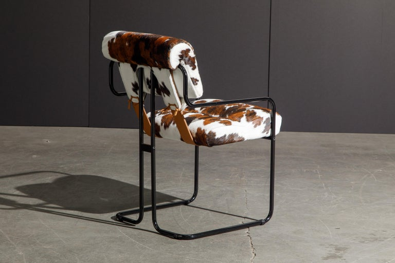 Contemporary Pair of Cowhide Leather Tucroma Armchairs by Guido Faleschini for Mariani, New For Sale