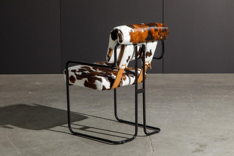Pair of Cowhide Leather Tucroma Armchairs by Guido Faleschini for Mariani, New For Sale 1