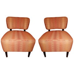 Pair of Cozy Mid-Century Modern Side Chairs