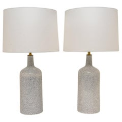 Pair of Crackle Glaze Lamps by Arabia