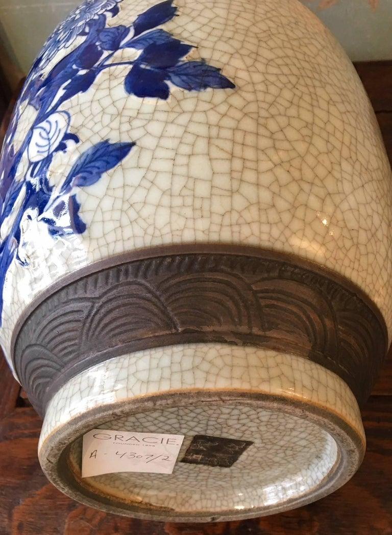 Pair of Crackleware Vases For Sale 1