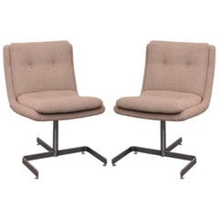 Pair of Cream Bouclé Lounge Chairs by Raphael, France, c. 1973