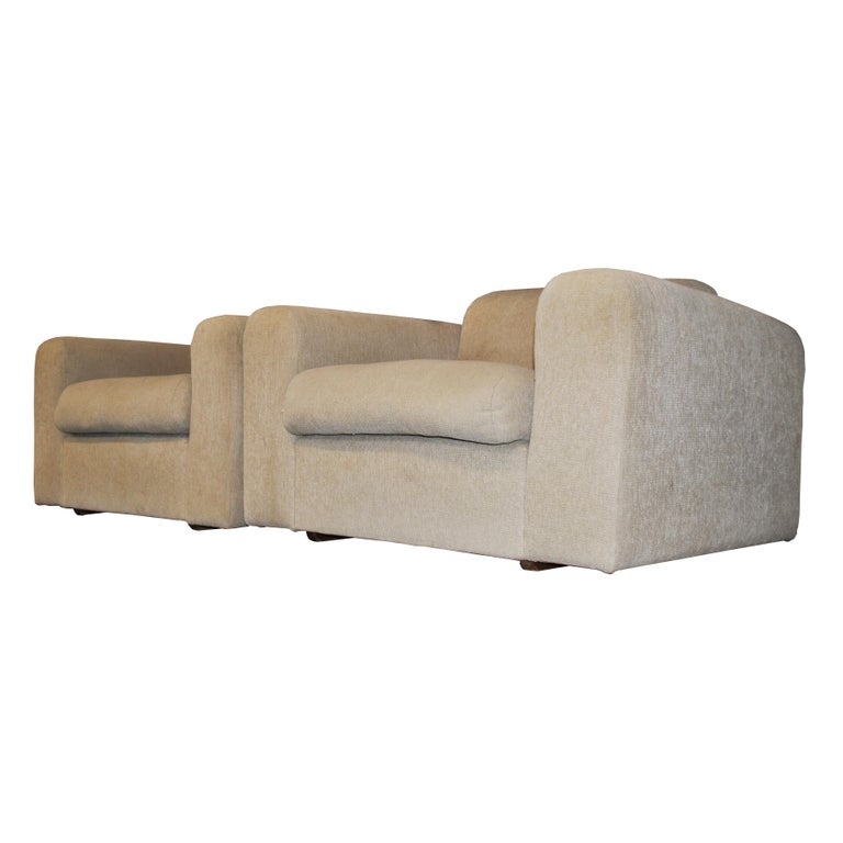 """Stendig  Robert Haussmann  Born 1933 Robert Haussmann studied in Zurich and Amsterdam. After several years in the construction industry he founded his architectural office, the """"Allgemeinen Entwurfsanstalt Zürich"""" in 1956.    A pair of lounge chairs"""