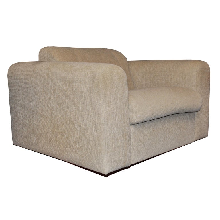 Mid-Century Modern Pair of Cream Stendig Lounge Chairs by Robert Haussmann
