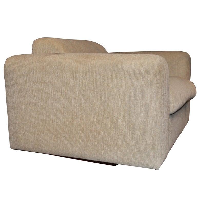 American Pair of Cream Stendig Lounge Chairs by Robert Haussmann