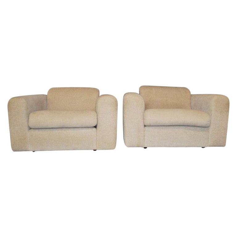 Pair of Cream Stendig Lounge Chairs by Robert Haussmann