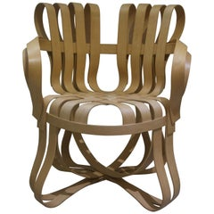 """Pair of """"Cross Check"""" Bentwood Armchairs"""
